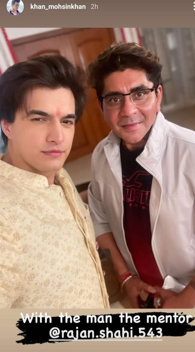 - Mohsin Khan with mentor Rajan Shahi