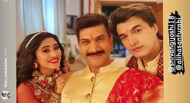 - Mohsin Khan with Ali Hassan and Shivangi Joshi