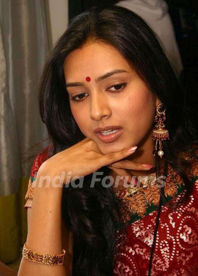 "NDTV Imagine''s ""Basera'''' Actress Pallavi Subhash at a press-meet in New Delhi on Wednesday"