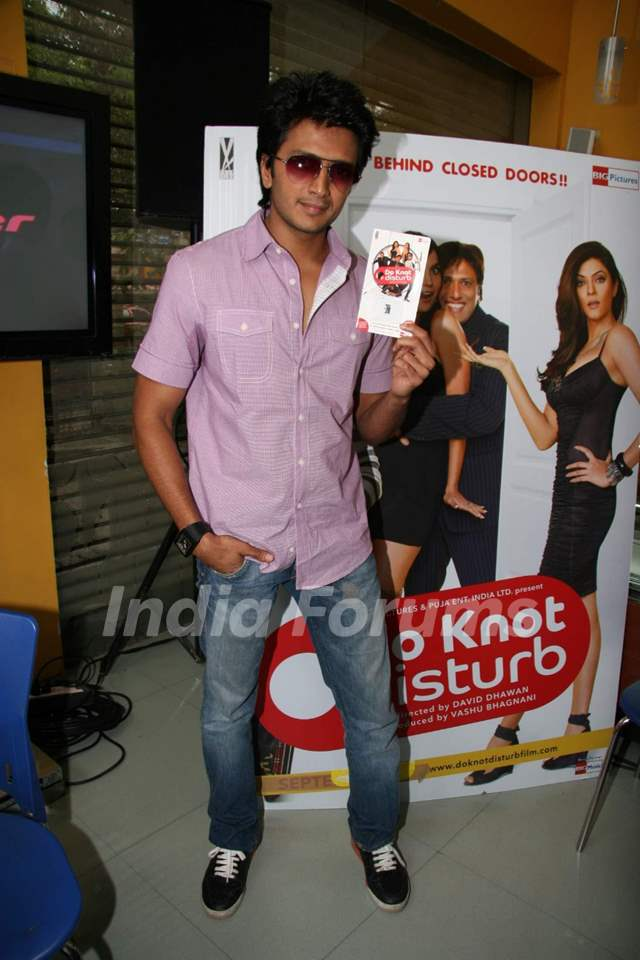 Riteish Deshmukh on ''Do Knot Disturb'' video conference at Reliance Web World in Mumbai