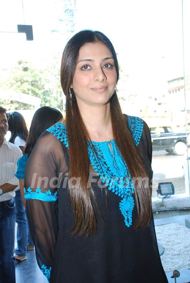"Bollywood actor Tabu at the promotional event of her upcoming movie ""Toh Bat Pakki"" at Riyaz Ganji store in Juhu, Mumbai"