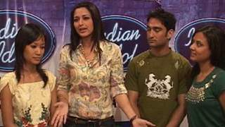 Sonali Bendre With Indian Idol 4 Top 3 Contestants