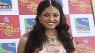 Tanushree Dutta on the sets of Sony's Saas Bina Sasural