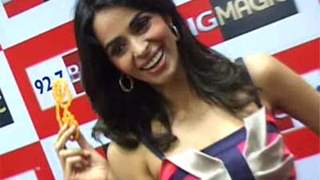 Mallika Sherawat promotes Double Dhamaal on Big FM