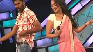 Sonakshi Sinha and Prabhu Deva on the sets of Dance India Dance L'il Masters
