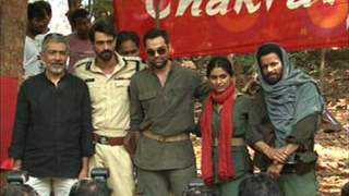 Promotion of Movie Chakravyuh at Naxal Camp