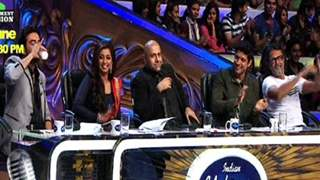 Farhan Akhtar promotes his film at Indian Idol Junior!