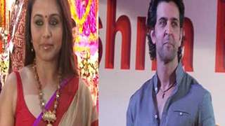Hrithik Roshan and Rani Mukherjee Celebrate Durga Pooja