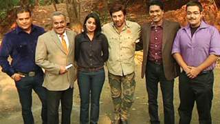 Sunny Deol On the Sets of CID to Promote Singh Saab The Great...