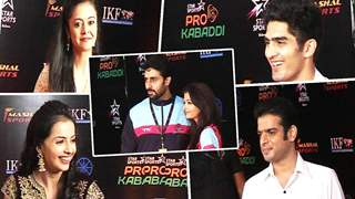 TV Celebs Attend The Finale Of Pro Kabbadi League