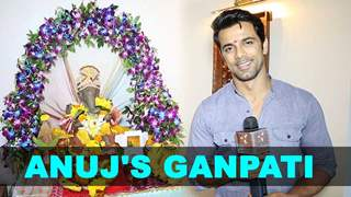 Anuj Sachdev warmly welcomes Bappa at his place