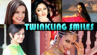 Twinkling smiles of TV stars