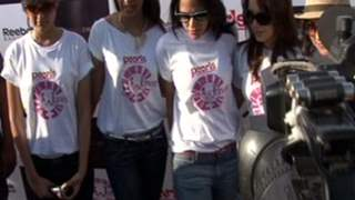 Neha, Minissha and & Mugdha Protest Against Domestic Violence On Women
