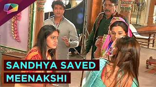 Sandhya saved Meenakshi from a blast | Diya or Baati hum