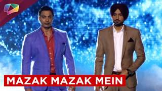 Promo shoot of Life Oks new show Mazak Mazak Mein with Harbhajan Singh and Shoaib Akhtar