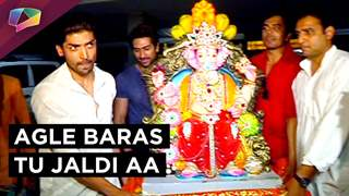 Gurmeeet, Debina and Rakhi Sawant bid farewell to Ganesha