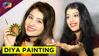 Celebs paint diya for Diwali