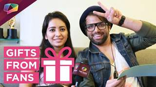 Rithvik Dhanjani and Asha Negi receive gifts from their fans