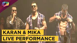 Karan Singh Grover And Mika Singh's Live Performance In Mumbai