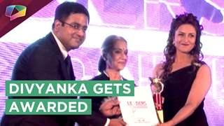 Divyanka Tripathi Dahiya Receives A Prestigious Award | India Forums