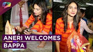 Aneri Vajani Aka Saanjh Welcomes Bappa With Joy