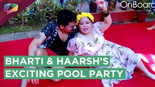 Bharti Singh And Haarsh Limbachiya Enjoy Their Pool Party With Friends And Family