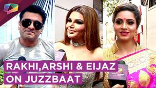 Rakhi,Arshi And Eijaz On Chat Show Juzzbaat