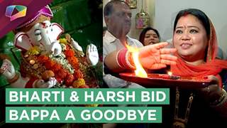 Bharti Singh And Harsh Limbachiyya Bid Bappa A Good Bye | Ganesh Visarjan