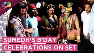 Sumedh Mudgalkar's Birthday Celebrations On The Sets Of Radha Krishn