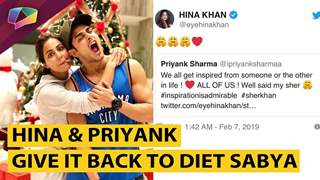 Hina Khan Takes Diet Sabya's Case | Priyank Sharma Supports