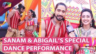 Sanam Johar And Abigail Pande's Special Dance Performance On Aapke Aa Jaane Se's Set | Zee tv