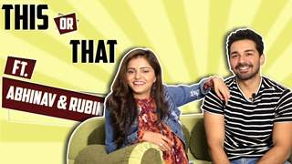 Rubina Dilaik And Abhinav Shukla Play This Or That With India Forums