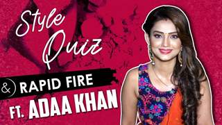 Adaa Khan Plays Style Quiz And Makeup Rapid Fire