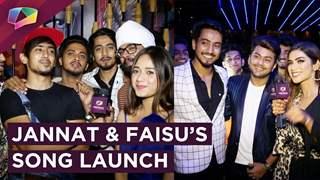 Jannat & Faisu's Tere Bin Kive Launch   Team 07, Awez Nagma, Zain, Ashnoor & More