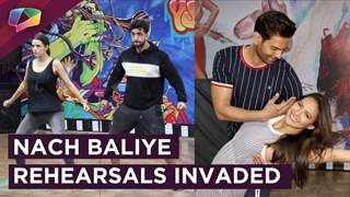 Keith-Rochelle & Aly-Natasha's Rehearsal Invasion For Nach Baliye 9 | Star Plus