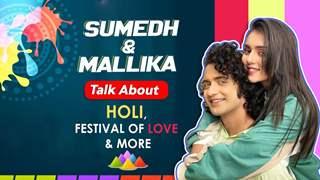 Sumedh Mudgalkar and Mallika Singh On Radhakrishn's Holi Shoot, Holi Quiz & More