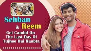 Sehban Azim And Reem Shaikh On The Last Day Shoot Of Tujhse Hai Raabta